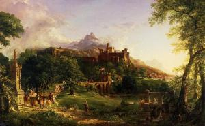 Paesaggio del pittore Thomas Cole. Olio su tela  Corcoran Gallery of Art, Washington, DC, USA